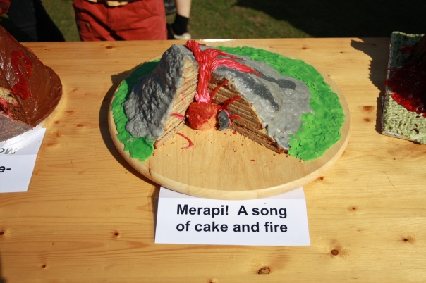 Merapi! A song of cake and fire! (Photo: Tahmeena Aslam)
